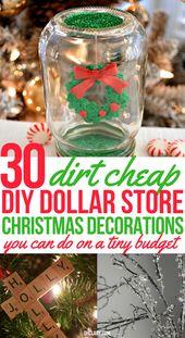 30 DIY Dollar Store Weihnachtsschmuck, den Sie mit Ihren Kindern machen können [2019]