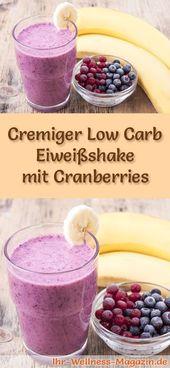 Eiweißshake mit Cranberries - Low-Carb-Eiweiß-Diät-Rezept