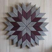 This Weathered Geometric Wood Art would look beautiful anywhere in your home. Al…