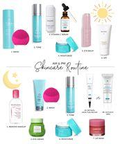 Auftrag zum Auftragen von Hautpflegeprodukten – My Morning & Night Routine – Makeup and clothes
