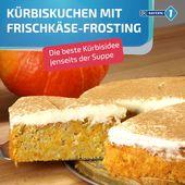 Pumpkin pie with cream cheese topping   – Kürbisrezepte