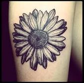 Image result for gerbera daisy tattoo black and white –  # Check more at ganseb.vasepin.si…