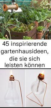 45 inspirierende gartenhausideen, die sie sich leisten können
