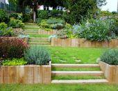 Remark avoir un joli jardin en pente? Jolies idées en images et conseils pour l'aménagement – Archzine.fr