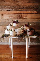 Sechs Hochzeitstorten sind besser als einer #Hochzeitstorte #Hochzeitsdesserts #Hochzeitsdess …   – Cakes & Dessert Tables