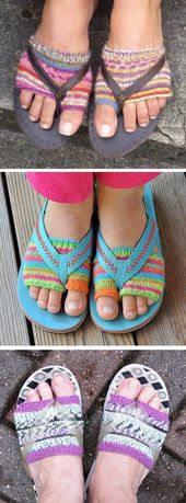 Free Knitting Pattern for Flip Flop Socks – These bikini sock liners are – Neupin