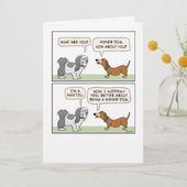 Wiener Dog Meets Shih Tzu Funny Birthday Card | Zazzle.com