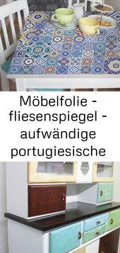 Möbelfolie – fliesenspiegel – aufwändige portugiesische fliesen – möbel klebefolie 1