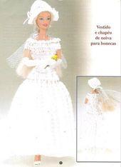 barbie is married dress with diahtam lcd vestidos tejidos para muecas
