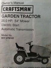 Sears Craftsman 25 0 H P 54 Mower Garden Tractor Owner Parts Manual 917 276101 Ebay In 2020 Craftsman Lawn Mower Parts Sears Craftsman Garden Tractor