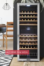 Vinamour 54D wine cellar 2 zones 148 l 54 bottles stainless steel front