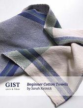 Beginner Cotton Tea Towels – Free Pattern PDF Download