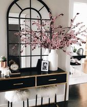 Glam Luxe Entryway Modern Home Decor Glamorous Luxury Style–but with callilys o…