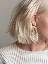 Weiche ovale Ohrringe aus Gold Vermeil , #ohrrin…..