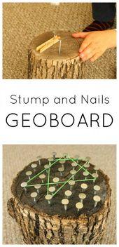 Stumpf und Nägel Geoboard