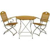 Balkon Sitzecke aus Robinie Massivholz und Stahl klappbar (3-teilig) 4Home4Hom …   – Products