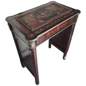 Napoleon III Console Table and Jardinière in Boule Marquetry France 19th Century