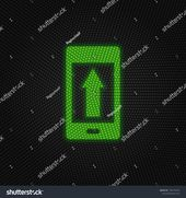 Phone Arrow Upload New Technology Vector Stock Vector (Royalty Free) 1536775724