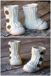 Crochet Ankle High Baby Booties Free Patterns Tutorials – Crochet and Knitting