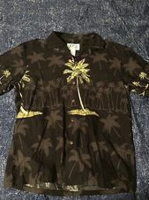 M/&S/&W Mens Hawaiian Shirt American Flag Print Summer Button Down Shirt