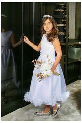 Elfenbensklänning, blommaflickaklänning, elfenbenflickaklänning, födelsedagsklänning, klänning, bröllopsklänning, dopklänning, Frankrike klänning, brudklänning