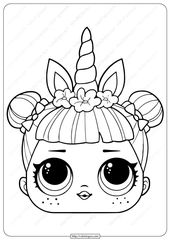 Lol Surprise Unicorn Mask Coloring Unicorn Coloring Pages Unicorn Mask Emoji Coloring Pages