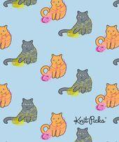 Free Cat Wallpaper – Yarn Fun from Knitpicks.com – Knitting