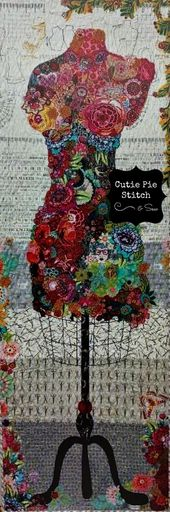 Quilt Pattern~Perfect Form Collage Quilt Pattern by Laura Heine of Fiberworks~Collage Quilt Pattern – Products