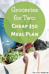 Budget Grocery List: $50 a Week