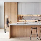 100+ Minimale und zusammen elegante Küchenideen