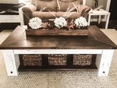 DIY Farmhouse Coffee Table Plans | Woodworking Plans, DIY furniture, DIY Plans, Living Room Furniture, Farmhouse Furniture, Rustic