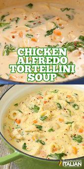 Chicken Alfredo Tortellini Soup