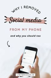 Why I Removed Social Media From My Phone