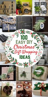 100 Simple DIY Christmas Present Wrapping Concepts