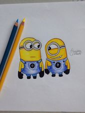 art, artist, colorful, design, disney, dispicable me, drawing, drawings, hair, m… – Zeichnen