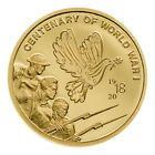 2018 Ci Centenary Of World War I 1 100 Oz Gold Prooflike 5 Coin In Cap Sku53315 Sale Offer Ozgold Ozcoin Coins 5 Coin Coin Collecting