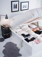 37 Kleine Schlafzimmer-Designs und Ideen für die Maximierung Ihres kleinen Raums, den Sie knallen lassen