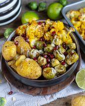 Verduras y papas sanas del horno   – Gesunde Weihnachten – Winter Rezepte – Kochen und Backen