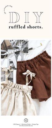 DIY: Gathered Shorts