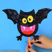 Bewegliche Bat Papier Puppe