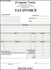 Tax Invoice Layout Aisha Amel Aishaamel On Pinterest