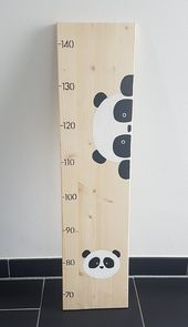 Messlatte 'Panda' aus Holz für Kinder