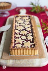 Tarta Linzer con tierna masa de almendras y gelatina de grosella: comienza a …   – Advents- & Weihnachtsbäckerei