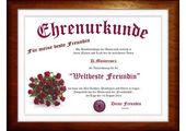 """Besondere Geburtstagsgeschenke Für Beste Freundin Unique Diplom Für """" Beste Fr…"""