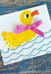 25 Spaß und schöne Handabdruck und Fußabdruck-Bastelarbeiten für Ihre Kinder, um diesen Sommer zu gestalten – aSelbermachen