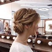 Updo Hair Idea For Short Hair