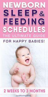 Un horaire de sommeil nouveau-né que vous et votre bébé adorerez!   – Newborn Baby