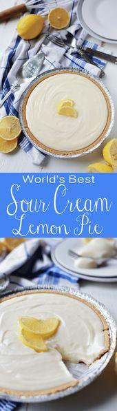 Beste saure Sahne-Zitronen-Torte überhaupt | Mit Geschmack verwirrt