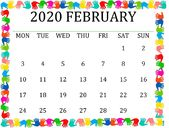 Cute February 2020 Calendar For Valentine day | Free Printable Calendar 2020