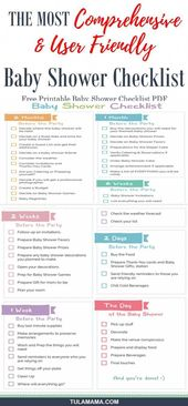 Planning a baby shower is no joke, which is why you need a #babyshower checklist…